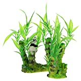 YARNOW Decoración de Acuario Plantas de Acuario Submarinas Panda Bambú Ornamentales Plantas de Agua Artificiales Acuario Peces Accesorios de Decoración de Acuario