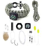 Last Man Survival Gear Paracord Kit Bracelet, Small...