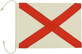 """Hampton Nautical  Letter V Nautical Cloth Alphabet Flag, Decor, Home Decoration, Wall Art Tool, 20"""""""