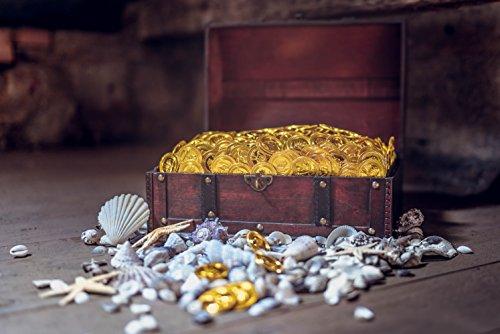 infinimo Schatztruhe – Holztruhe, Piratenkiste, Geschenk-Box verschließbar mit Deckel und Schloss mit Schlüssel, 30x20x15cm große Schatzkiste - 5