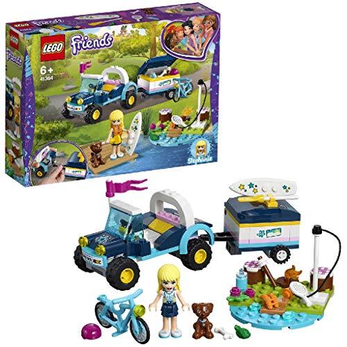 LEGO Friends - Buggy y Remolque de Stephanie, juguete de construcción que incluye coche, bicicleta y mascotas (41364)