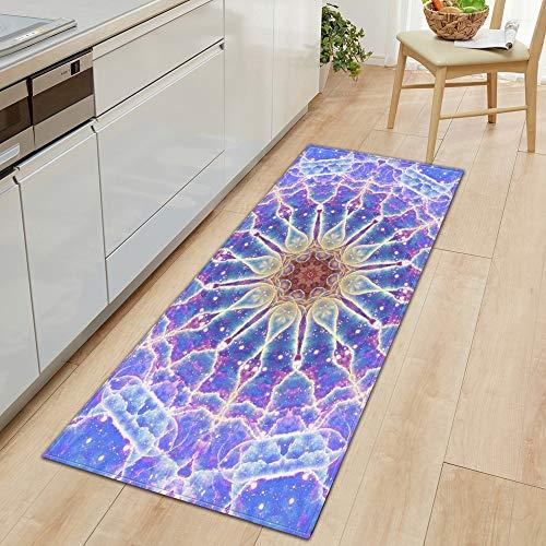 OPLJ 3D Sternenhimmel Teppiche Eingang Fußmatte Schlafzimmer Flur Bodendekoration Teppich Badezimmer Wasser absorbieren Anti-Rutsch-Matte Home A9 50x80cm