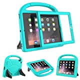 AVAWO Kids Case Built-in Screen Protector for iPad 2 3 4 (Old Model)- Shockproof Handle Stand Kids Friendly Compatible with iPad 2nd 3rd 4th Generation (Turquoise)