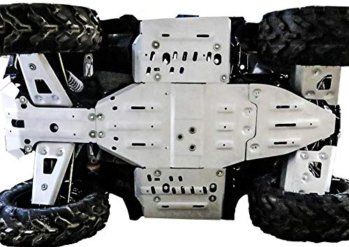 Compatible with Polaris Sportsman 850/1000 XP Alloy Full Skidplate Kit