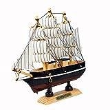 Evilandat Mittelmeer Segeln Modellschiff Segelschiff Geschenk Deko Weihnachten 30cm Zufällige Farbe -
