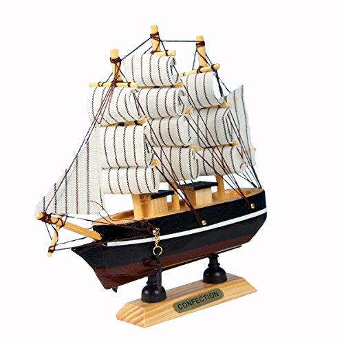 Evilandat Mittelmeer Segeln Modellschiff Segelschiff Geschenk Deko Weihnachten 16cm Zufällige Farbe