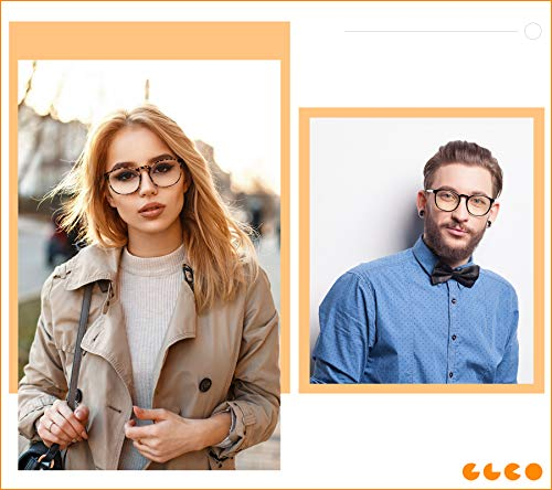 IBOANN 3 Pack Blue Light Blocking Glasses Women/Men, Round Fashion Retro Frame, Vintage Fake Eyeglasses with Clear Lens