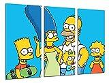 Wandbild - Die Simpsons, Bart, Homer, 97 x 62 cm, Holzdruck