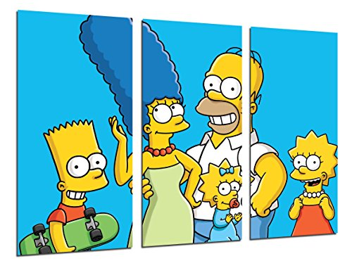 Cuadros Camara Fotográfico Los Simpsons, Bart, Homer Tamaño total: 97 x 62 cm XXL, Multicolor