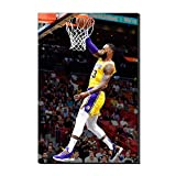 WALKKING WAYS Wall Canvas Art Paintings for Wall Decor?Lakers Lebron James Supper Slam Dunk Basketball Pictures Wall Decoration Prints and Posters (Framed,40x60 cm)