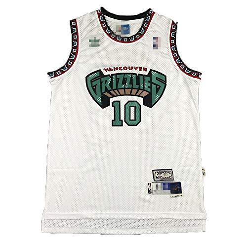 Camiseta de baloncesto para hombre, sin mangas, camiseta de baloncesto Mike Memphis NO.10 Grizzlies Bibby Player, uniforme de baloncesto, secado rápido, transpirable