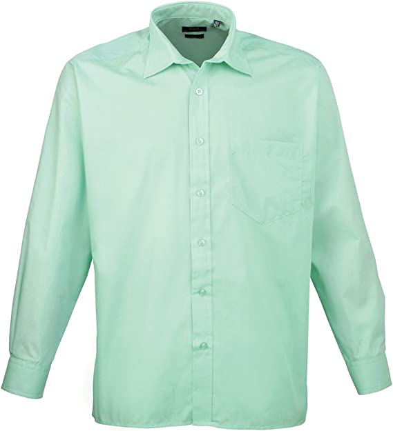 Premier Workwear Poplin Long Sleeve Shirt Camicia Uomo