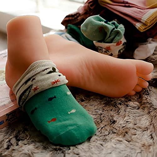 Silicona Pies Modelo, Maniquí de silicona de pie de bebé de 4,75 pulgadas, modelo de pies de textura realista para botas de zapatos de bebé, accesorios de fotografía para exhibición de calcetines