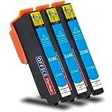 Multipack 3 Cartuchos de Tinta compatibles para Epson T3362 Cian 12ml, para Epson Expression Premium XP-530, XP-540, XP-630 Series, XP-635, XP-640, XP-645, XP-830, XP-900