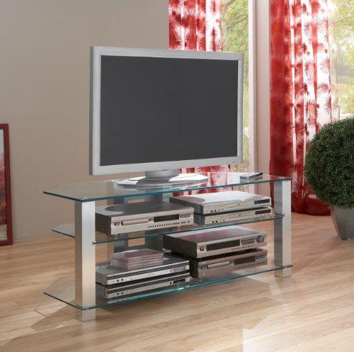 BFK Möbel Collection Giga TV-Phonotisch, Glas, Klarglas, 50x120x50 cm