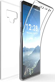 Note 9 Clear Case, New 360-Degree Wrap [Full-Body Protection] Transparent TPU Slim Cover [Built-in Screen Guard] for Samsung Galaxy Note 9 (SM-N960)