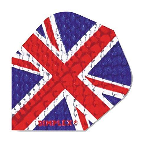 Harrows Dimplex Dart-Flights, Union Jack, Standardform, 10 x 3 Stück