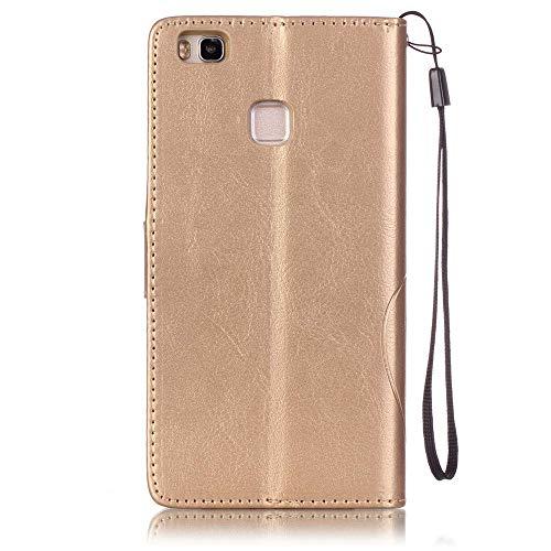 Huawei P9 Lite Custodia Pelle, Billionn scintillante Farfalla goffratura Cover Filp con Disegno Supporto Stand, Porta Carte e Protettiva Flip Portafoglio Case con chiusa Magnetica per Huawei P9 Lite