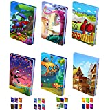 Instylecraft Stretchable Book Cover (C1-Jumbo Value Pack, 6 Artistic...
