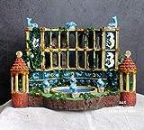 OYQQ Esculturas Adornos Estatuilla, Acuario Acuario Paisajismo Atlantis Civilización Edificio Antiguo Resina Un Palacio De Delfines