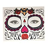 Sharplace Kit De Pegatinas Temporales Impermeables Para Tatuajes De Ojos De Halloween - Diseño rosa 3