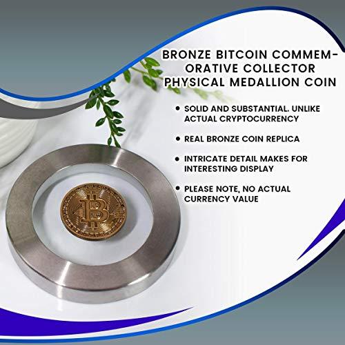 Toynk Bronze Bitcoin Commemorative Collector Physical Medallion Coin