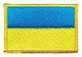 Flaggen Aufnäher Ukraine Fahne Patch + gratis Aufkleber,