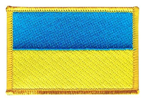 Flaggen Aufnäher Ukraine Fahne Patch + gratis Aufkleber, Flaggenfritze®