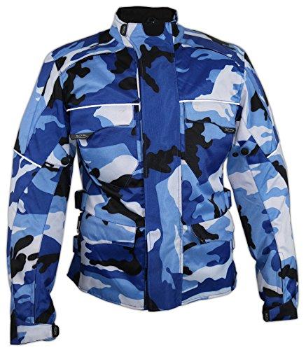 Herren Motorrad Textil Jacke Motorradjacke Winddicht Wasserdicht Belüftet Camo Camouflage (4XL)