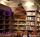 Lámpara de salón de té Lámpara de araña de papel kraft de nido de abeja tejida desnuda Zen Restaurante de té de Japón Lámpara de araña japonesa