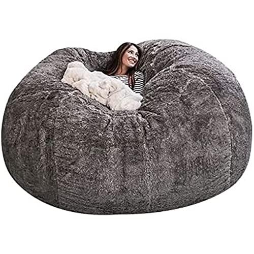 Giant Bean Bag Chair, 7ft Giant Fur Bean Bag Cover...
