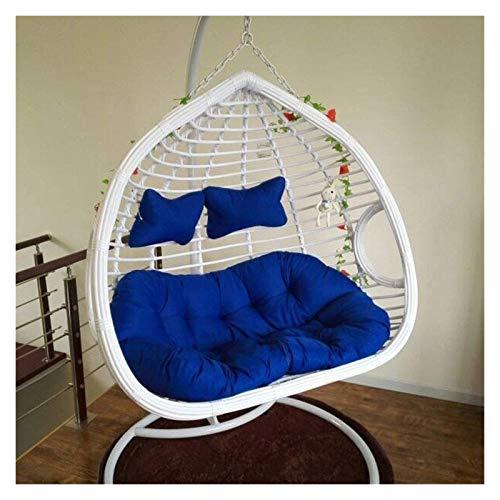 DYYD - Cojín para silla de huevo colgante de mimbre, extraíble y lavable, cero formaldehído, suave y cómodo (color: azul, tamaño: 140 cm x 110 cm)