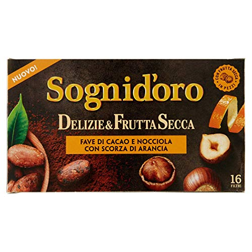 Sogni Doro Tisana Delizie&Frutta Secca Fave Cacao e Nocciola con Scorza di Arancia 16Fl - 40 Gr