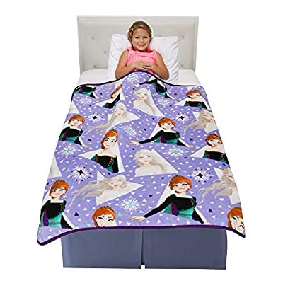 "Franco Kids Bedding Super Soft Plush Throw Blanket, 46"" x 60"", Disney Frozen 2"