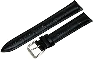 Replacement Leather Watch Band Strap Alligator Crocodile Grain Pin Buckle Black Brown Blue White Red