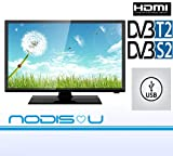 TV 24 Pollici 24' NODIS LED HD DVB-T2/S2 Digitale di Ultima Generazione T2 hdmi...