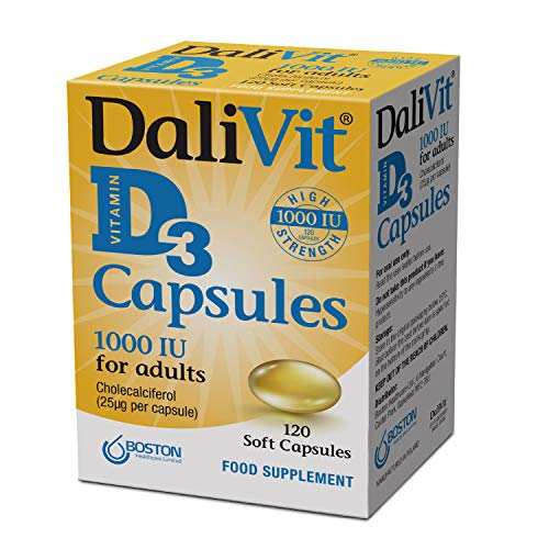 DaliVit D3 | Vitamin D Capsules | Optimum Strength 1000 IU for Adults | 120 Soft Gel Capsules