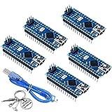 5pcs Mini Nano V3.0 ATmega328P 5V 16MHz Micro Controller Board Module Nano Boards CH340G Chip with Mini USB Cable