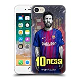 Head Case Designs Oficial FC Barcelona Lionel Messi 2017/18 First Team Group 1 Carcasa rígida Compatible con Apple iPhone 7 / iPhone 8 / iPhone SE 2020