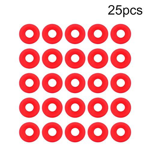 25 stks Rode Siliconen Grolsch Pakkingen voor Swing Flip Top Fles Home Brew Bierfles Seals Silicon Grolsch Cap Swing Top Fles Wasmachine Pakking