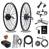 RICETOO Kit de conversión de Bicicleta eléctrica 36V/48V 500W 16