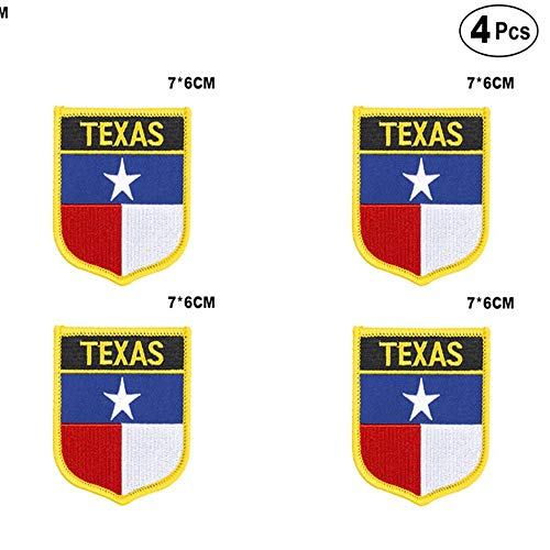 U.S.A Texas Shiled Shape vlag patches nationale vlag patches voor Cothing DIY Decoratie PT0051-S