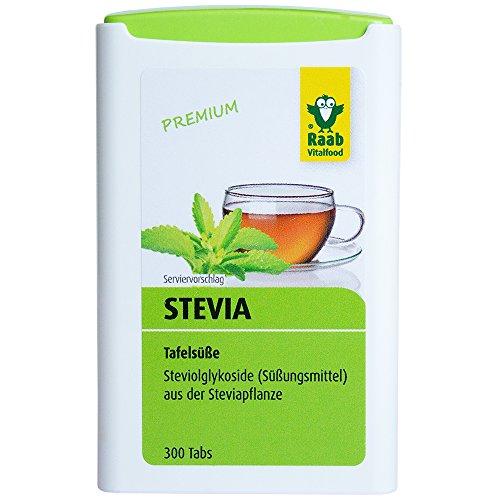 Raab Stevia Tabs, 300 Tabletten, 1er Pack (1 x 18 g Dose)