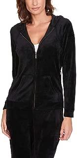 Gloria Vanderbilt Ladies' Velour Hooded Jackets for Women ~ X-Small - PlusSizes
