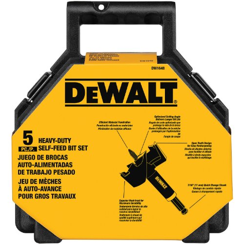 DEWALT Drill Bits Set, Self Feed, 5-Piece (DW1648)