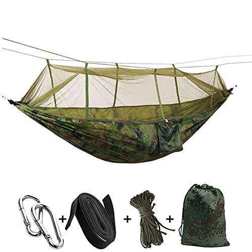 MJXVC Ultralight Parachute Hammock Hunting Mosquito Net Double Bed Outdoor Camping Portable Hammock,A7