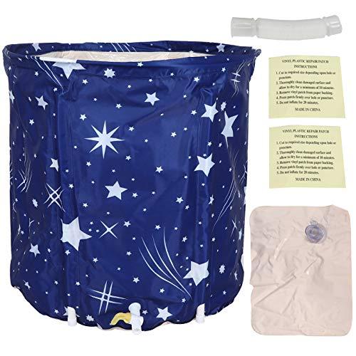 Bañera plegable Bañera de PVC de alta densidad 5 capas de aislamiento acústico espesante, para niños y adultos