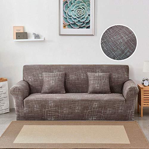 WXQY Funda de sofá de Estilo Bohemio Funda de sofá de Sala de Estar elástica de algodón Puro Funda de sofá Individual sillón Chaise Longue A20 3 plazas