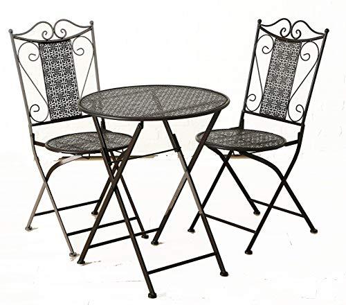 Boltze Gartenset bestehend aus Tisch und 2 Stühlen aus Metall