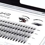 LANKIZ DIY Wimpern Einzeln für Wimpernverlängerung , 20D Fake Individual Lashes,Wimpernbüschel Cluster-Wimpern, Individuelle Falsche Wimpern für Einzelne Wimpern zu Hause
